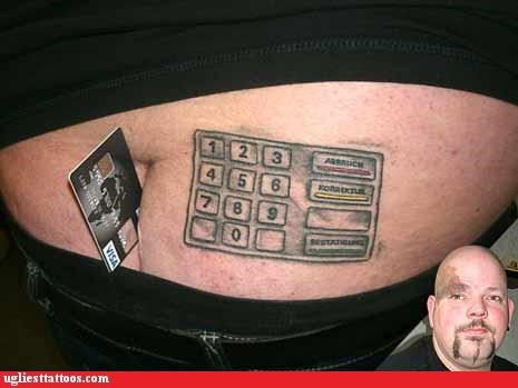 breaking the fourth wall butt tats comedy tats numbers words - 4477538304
