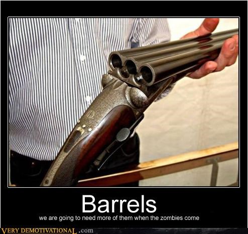 zombie,barrels,awesome,gun