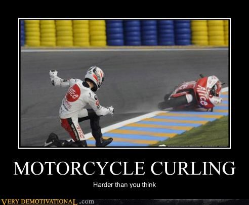 curling,motorcycle