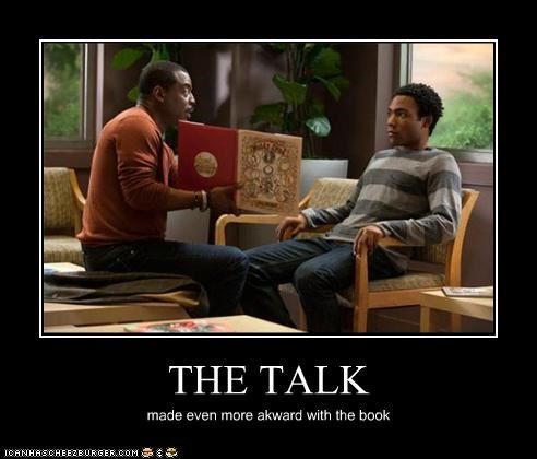 THE TALK made even more akward with the book
