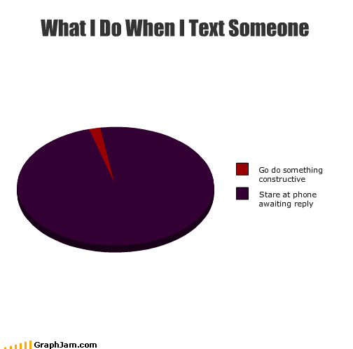 pie charts graphs texting funny - 4479285248