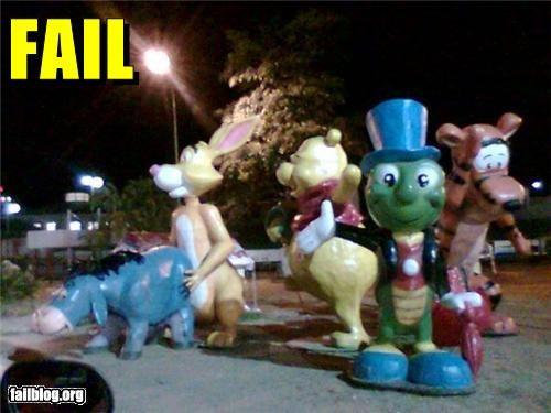 Things That Are Doing It: Disney Characters FAIL Winnie The Pooh will never be the same again...