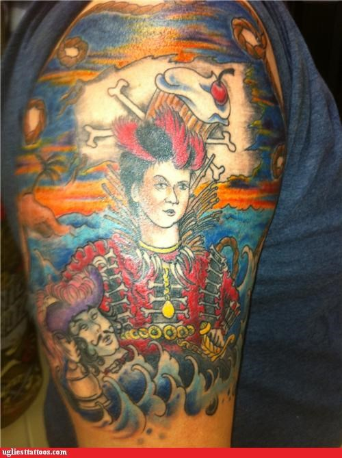 tattoos funny hook Rufio g rated Ugliest Tattoos - 4480631040