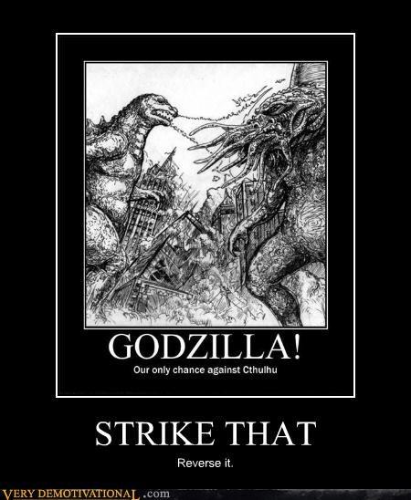 cthulhu godzilla fight - 4480811776
