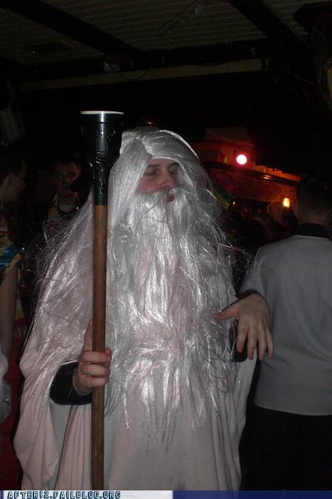 beard,costume,cup,gandalf,Lord of the Rings,staff,wig
