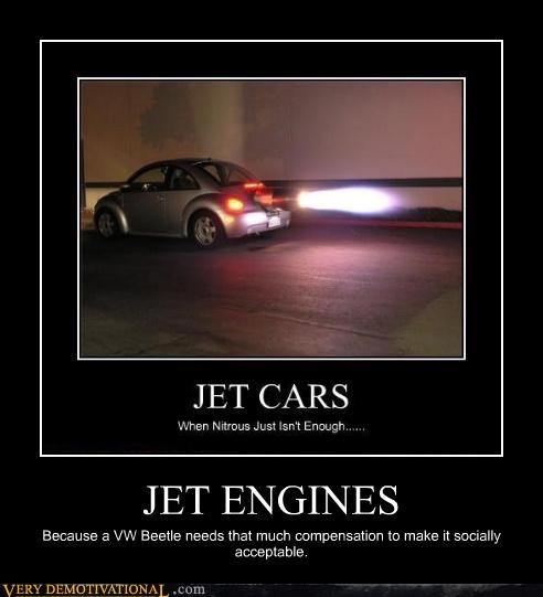 socially acceptable,car,beetle,jet engine