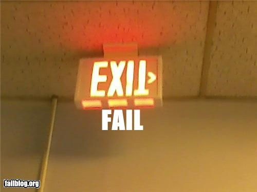 classic exit sign failboat g rated upside down - 4481578240