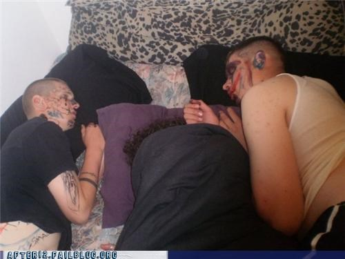 bed marker passed out sharpie threesome