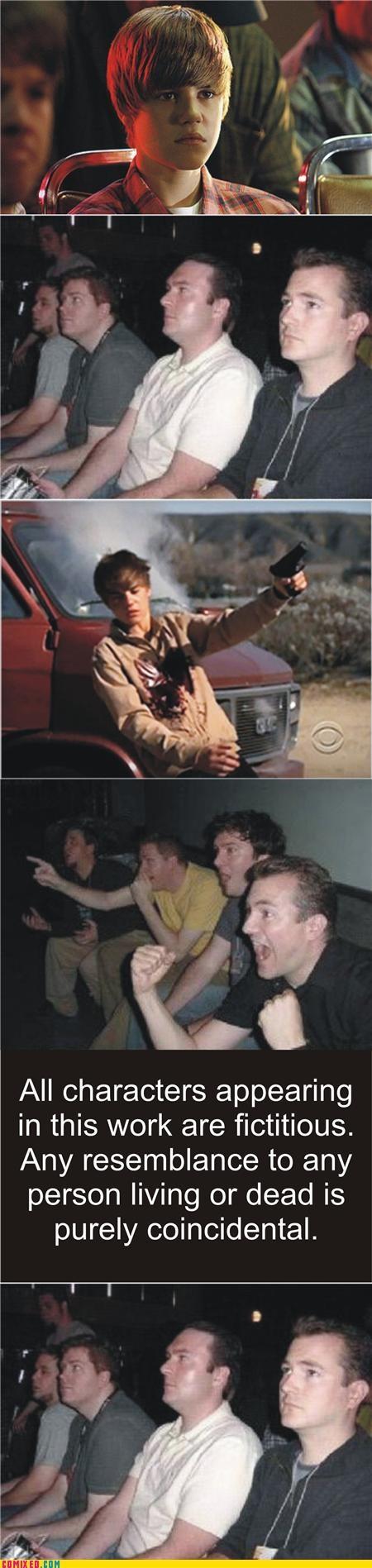 csi guns justin beiber reaction guys sad but true - 4482369280