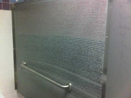 Bathroom Graffiti Harry Potter light bathroom reading - 4482521344
