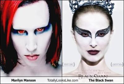 actresses black swan Hall of Fame makeup marilyn manson movies musicians natalie portman - 4483063552