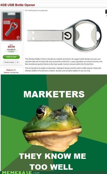 bottle opener foul bachelor frog FTW marketing usb drive - 4483533568