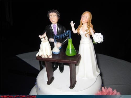cake toppers Chemistry funny wedding photos geek science
