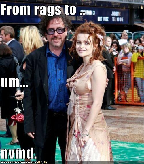 actor celeb funny helena bonham-carter tim burton - 4483931648
