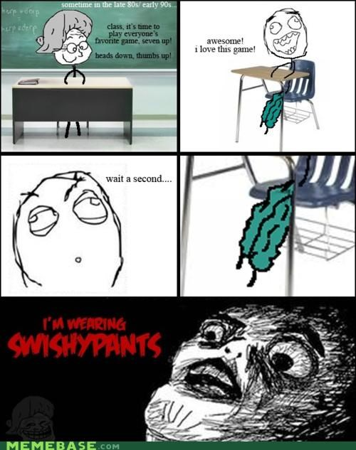 hard to sneak loud pants Rage Comics raisins-super-fuuuu school games seven up - 4483940864