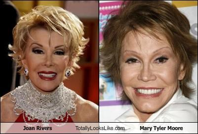 actress comedian joan rivers mary tyler moore plastic surgery