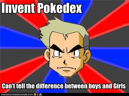 Invent Pokedex Can't tell the difference between boys and Girls