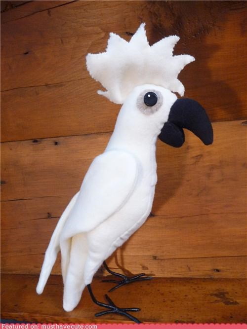 bird cockatoo doll Plush - 4484498176