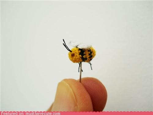 bee,craft,Crocheted,thread,tiny
