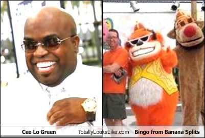 Banana Splits bingo cee lo cee-lo green costume teeth