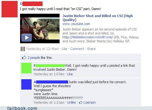 csi,justin bieber,killed,shot,win