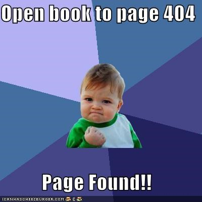 404 page found success kid