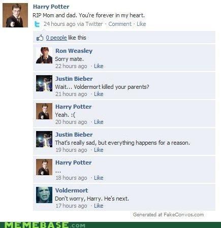 facebook hard to believe Harry Potter justin bieber voldemort - 4484777728