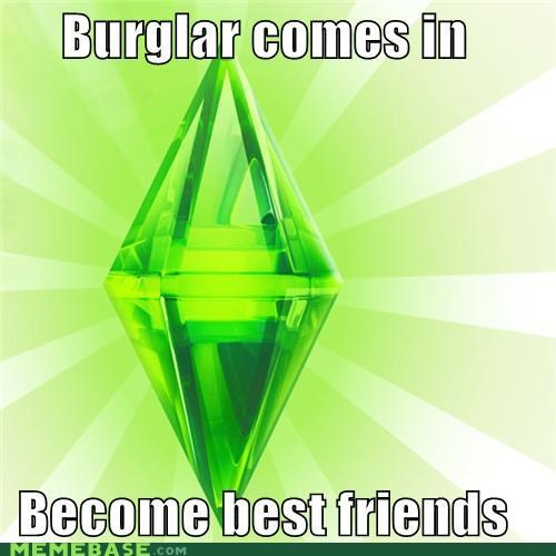 best friends,burglar,The Sims