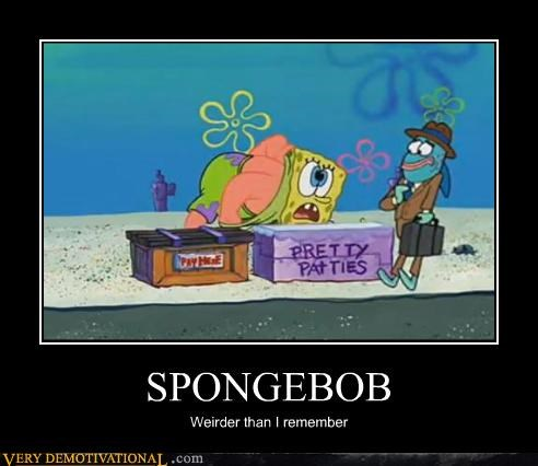 cartoons crazy SpongeBob SquarePants wtf