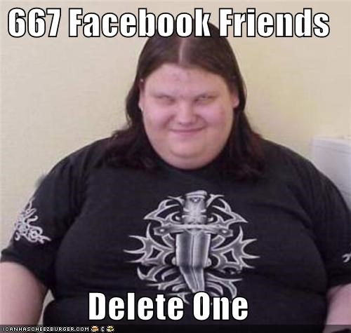 666,deletion,facebook,friends,lies,the devil