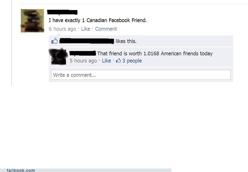 Canada,friends,witty reply