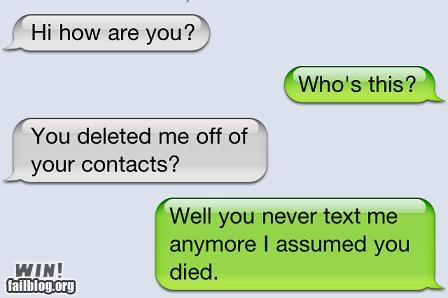 assume Death iphone texts