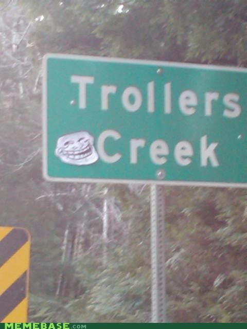 highway sign The Internet IRL troll face - 4485662976