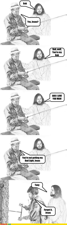 drinking fishing jesus mooch religion - 4485778176