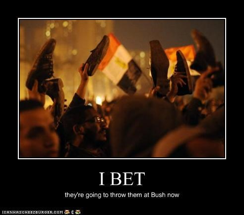 I BET they're going to throw them at Bush now
