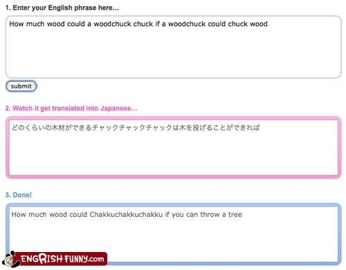 engrish japanese lost in translation woodchuck
