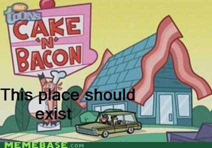 cake n bacon,Fairly Oddparents,Memes,pig n pancake