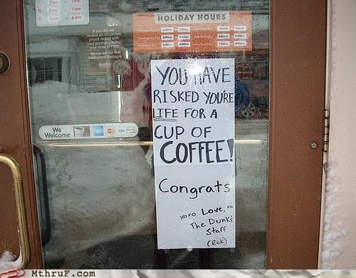 coffee dunkin donuts note sign - 4486536704
