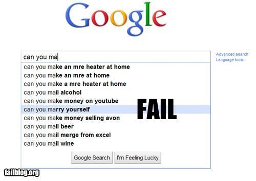 Autocomplete Me,can you,failboat,google,search