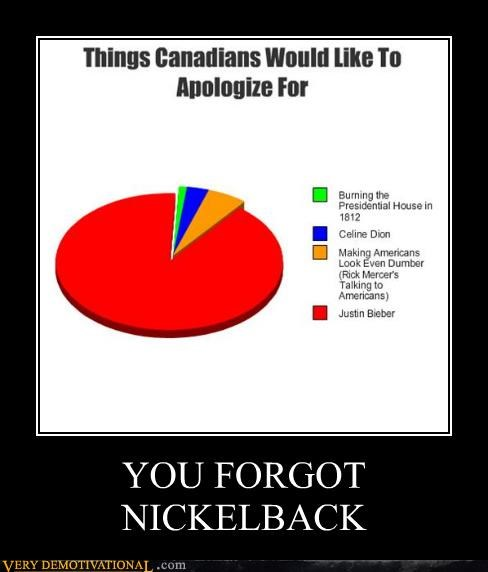 Canada apology nickleback worse than Bieber