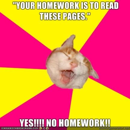 excited happy homework memecats Memes reading school - 4487089920