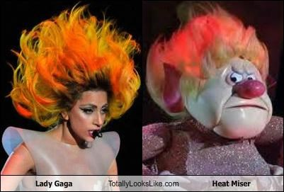 claymation,hair,heat miser,lady gaga,movies