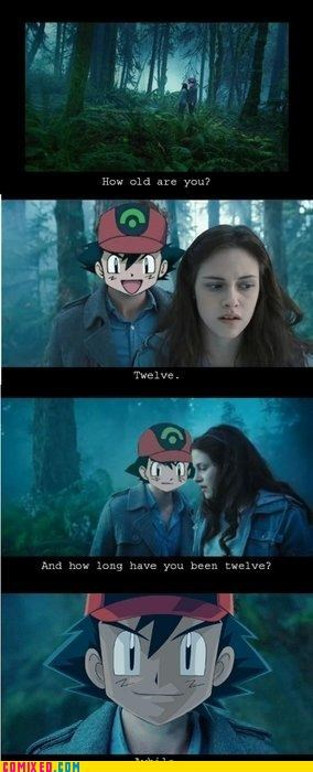 age ash ketchum cartoons Pokémon pokerface twilight