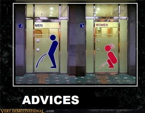 advice,bathroom,men,peeing,women