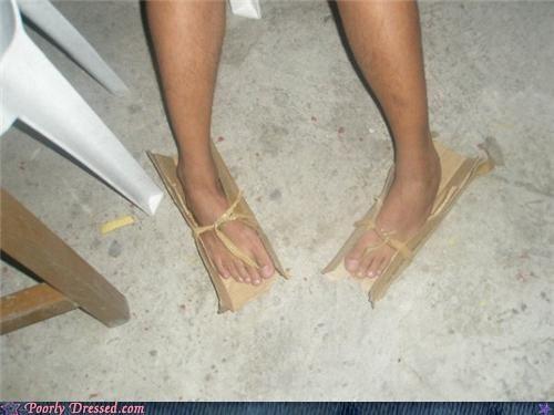 cardboard DIY flip flops slippers tifi - 4487883776