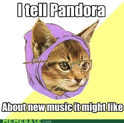 animemes Hipster Kitty New Music pandora - 4488242688