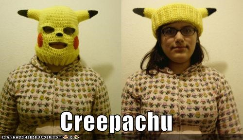 derp girl knit mask pikachu Pokémon sweater - 4488259840