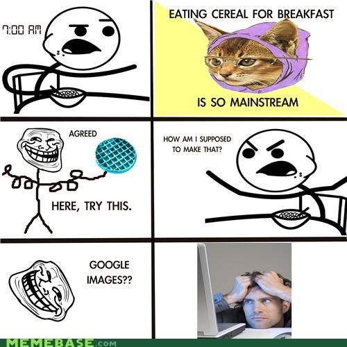 blue waffle cereal cereal guy Rage Comics recipe - 4488540672