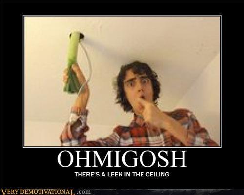 ceiling leek pun vegetable - 4488674048