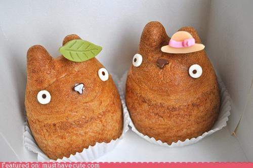 buns epicute eyes hat leaf nose pastry puffs totoro - 4488808448